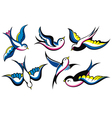 Tattoo Style Swallow vector image vector image