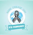 29 february rare disease day vector image