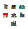 buildings color set vector image