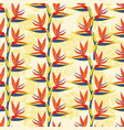 pattern with bird of paradise flower - tropical vector image