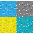 Seamless water drop pattern vector image vector image