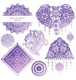Set of ornamental Indian symbols vector image
