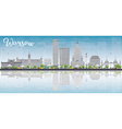 Warsaw skyline with grey buildings vector image