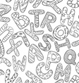 Black And White Seamless Pattern With Children vector image