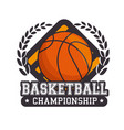 basketball sport ball isolated icon vector image