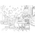 Cafe in the Garden vector image
