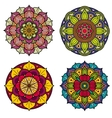 Color mandalas indian and chinese floral vector image