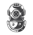 Diving helmet vector image