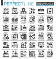 insurance black mini concept symbols accident vector image