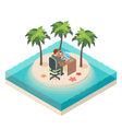 isometric of downshifting lifestyle vector image