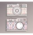 Retro photo cameras set vector image