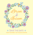 save the date template invitation card vector image