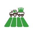 Tractor on field icon Farm vector image