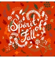 vignette of autumn leaves vector image
