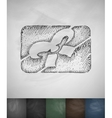 gift card icon Hand drawn vector image