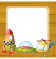 toys and window vector image vector image