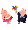 loving pigs vector image vector image