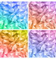 Abstract crystal colorful backgrounds vector image