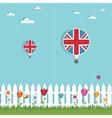 great britain hot air balloons vector image