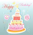 birthday cake and pastries vector image
