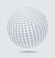 sphere halftone pattern circle dotted design vector image