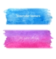 Bright watercolor banners set vector image