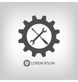 Gear wheel and tools as logo vector image