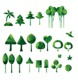 set of geometric trees vector image