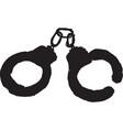 handcuffs vector image vector image