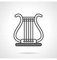 Lyre black line icon vector image