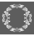 Vintage baroque frame border with leaf scroll vector image