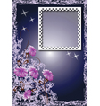 photo frame and flowers vector image vector image