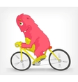 Funny Monster Biker vector image vector image