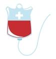 blood bag icon vector image