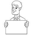 cartoon businessman with card vector image