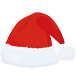 cartoon santa hat isolated on white vector image