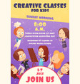 children classes poster vector image