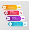 lines arrows infographic Template for vector image