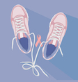 Running for the cure sneakers vector image