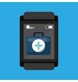 smartwatch device health bag fisrt aid vector image