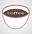 Stickers to advertise coffee vector image