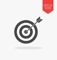 Target icon Flat design gray color symbol Modern vector image
