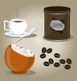 the coffee vector image