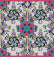 tropical seamless pattern with many gray blue and vector image