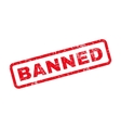 Banned Text Rubber Stamp vector image vector image