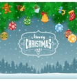 Fir Branches Toys And Balls vector image vector image