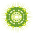 green sun vector image