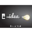 Creative light bulb idea Inspiration concept vector image vector image