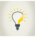 Hand a bulb vector image vector image