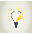 Hand a bulb vector image